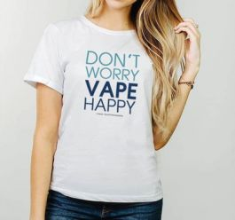 Damen T-Shirt: Don`t worry vape happy