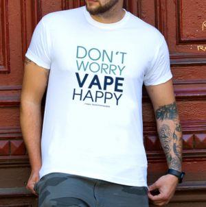Herren T-Shirt: Don`t worry vape happy